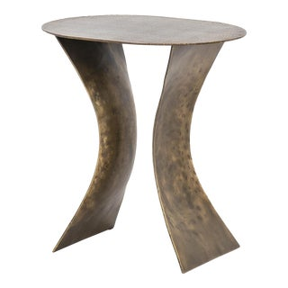 Modern Dexter Iron Side Table For Sale