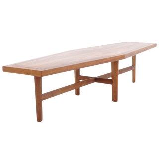George Nakashia Designe for Widdicomb Coffee Table. For Sale