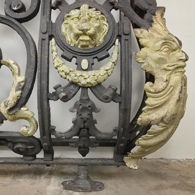 Black Napoleon III Period Cast Iron Marble Top Console For Sale - Image 8 of 12