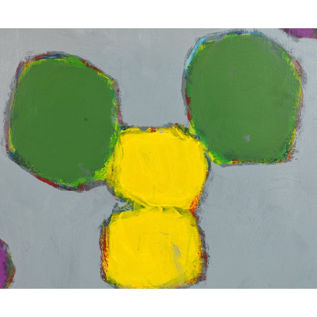 'Color Composition' Original Abstract Painting by Lars Hegelund, 25 X 25 In. For Sale - Image 4 of 9