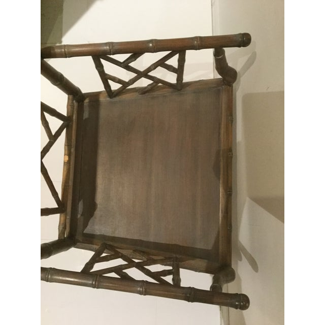 1970s Vintage Faux Bamboo Chippendale Side Chair For Sale - Image 10 of 13