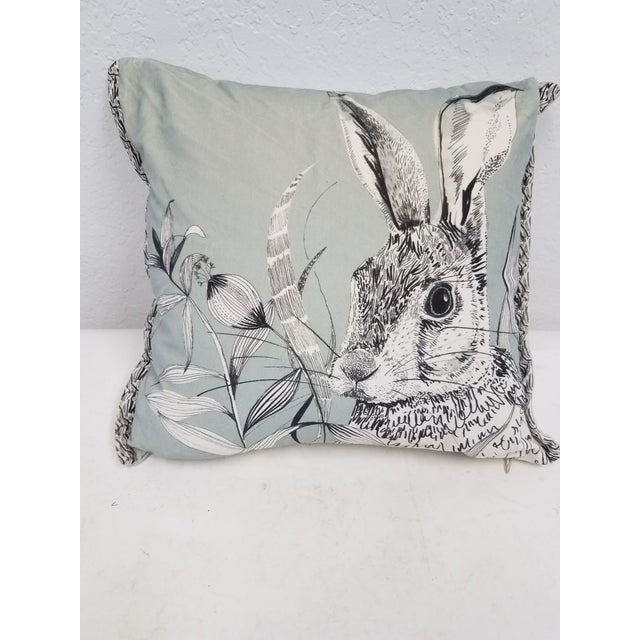 Rabbit Hare Pillow - Made in Wales, United Kingdom For Sale - Image 11 of 11