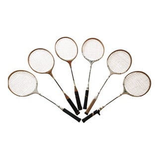 Vintage Tennis Rackets - Set of 6