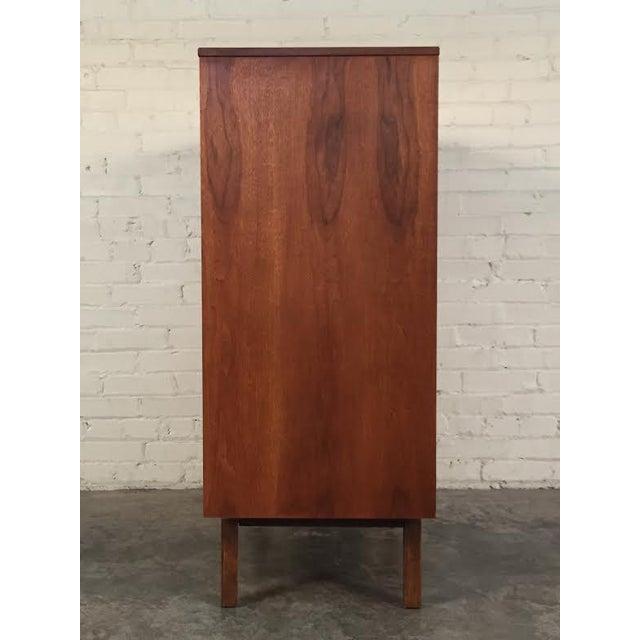 Walnut Mid-Century Modern 4-Drawer Dresser - Image 5 of 8