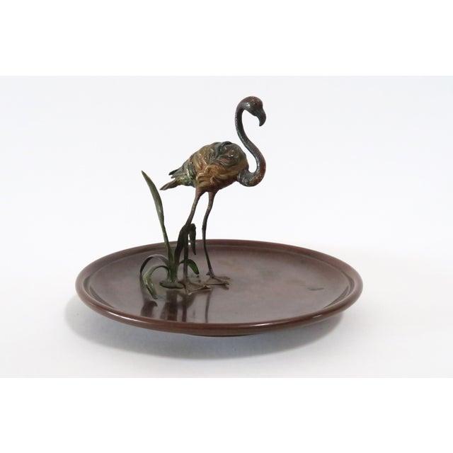 Flamingo Accented Metal Dish - Image 2 of 7