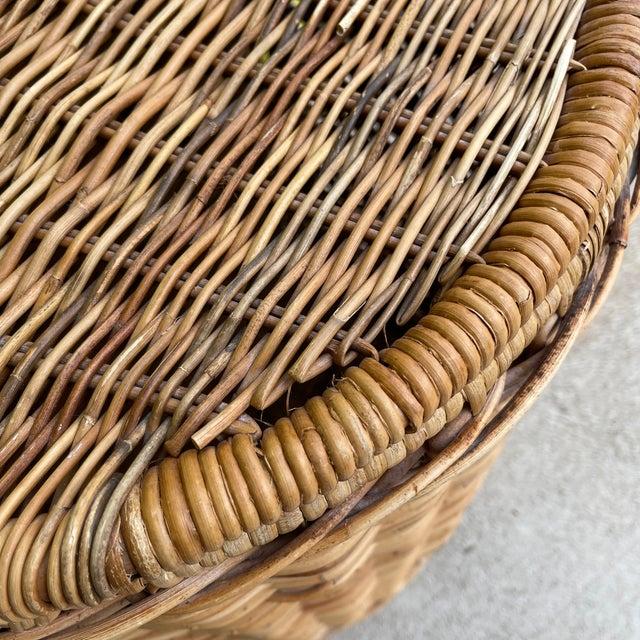 Wicker Vintage Wicker Hamper For Sale - Image 7 of 12