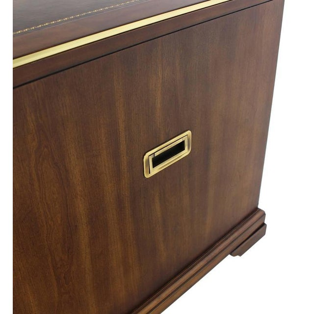 Three Drawer Campaign Style Three-Drawer Chest Occasional Cabinet Stand Table For Sale In New York - Image 6 of 10