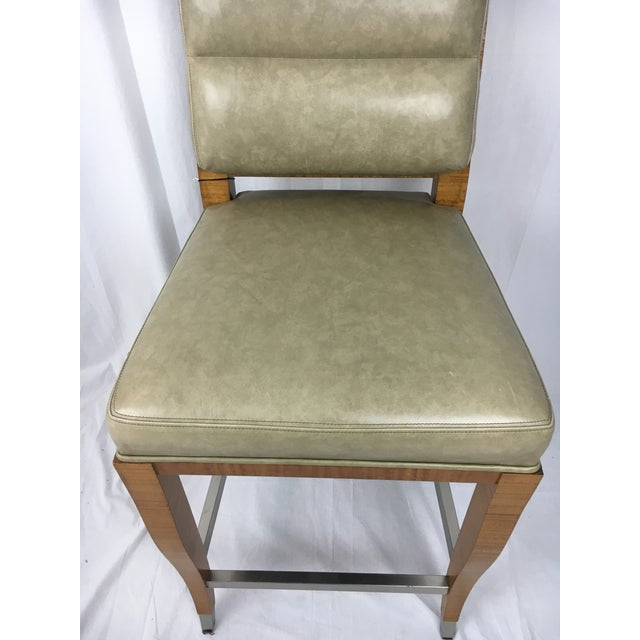Green Lemonwood Green Aubusson Bar Stool For Sale - Image 8 of 9
