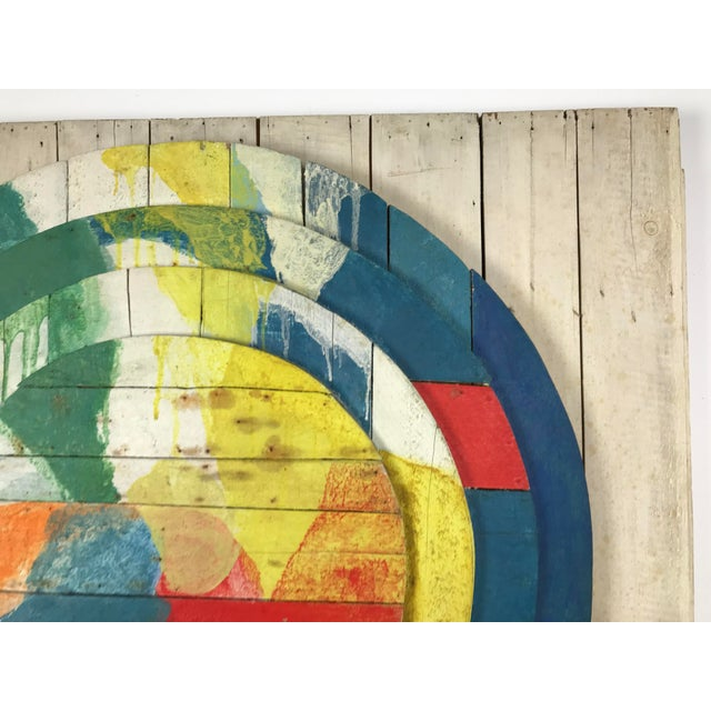 """1960s Large Modernist Abstract Relief """"Sun lI"""" Jef Diederen 1965 Acrylic on Wood For Sale - Image 5 of 13"""