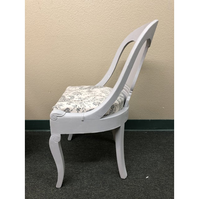Vintage Chalk Paint Chairs - a Pair For Sale - Image 4 of 13