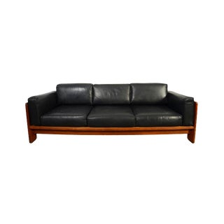 1960s Vintage Tobia Scarpa for Gavina Bastiano Italian Leather Sofa For Sale