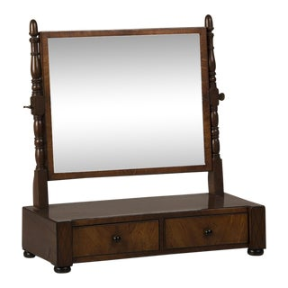 1830s English William IV Period Mahogany Dressing Mirror For Sale