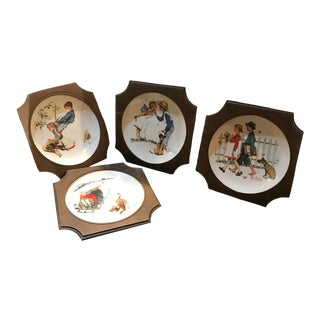 1972 Norman Rockwell Gorham Plates - Set of 4 For Sale