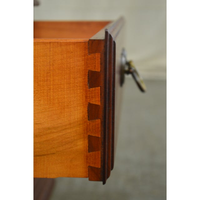 Pennsylvania House Mt Vernon Pair of Solid Cherry Vintage Nightstands For Sale In Philadelphia - Image 6 of 13