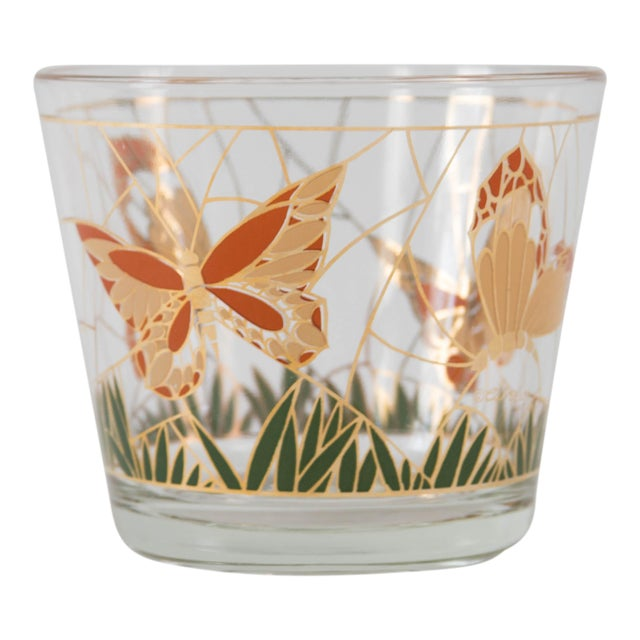 Culver Glass Butterfly Ice Bucket - Image 1 of 5