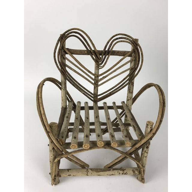 Bent Twigs Heart Chair Plant Stand For Sale - Image 10 of 10