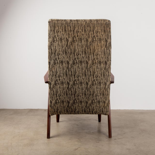 1960s Mid-Century Modern High-Back Chair For Sale - Image 4 of 8