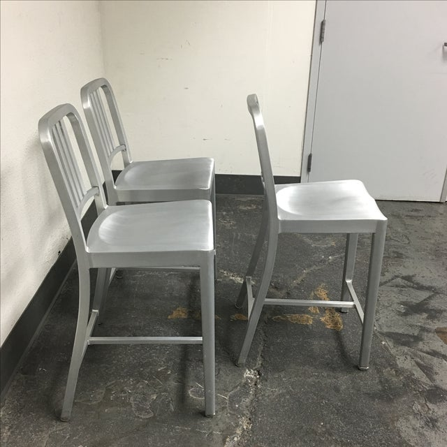 Emeco Counter Stools - Set of 3 - Image 4 of 10