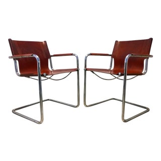 Vintage Matteo Grassi Italian Bauhaus Style Cantilever Chair For Sale
