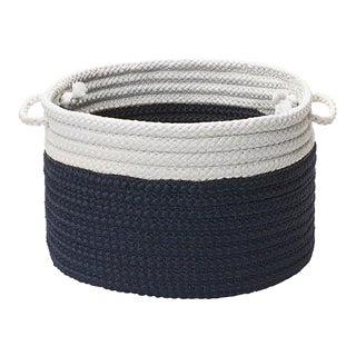 """Dipped Indoor/Outdoor Basket - Navy 24""""x14"""""""