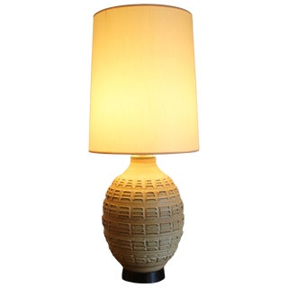 Studio Pottery Table Lamp by Bob Kinzie Original Shade For Sale