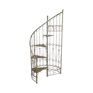 Silver Gilt Metal Italian Library Spiral Staircase Stairway to Heaven For Sale