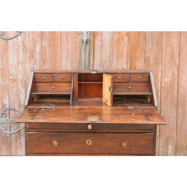 Brown 18th Century Swedish Secretary Desk For Sale - Image 8 of 11