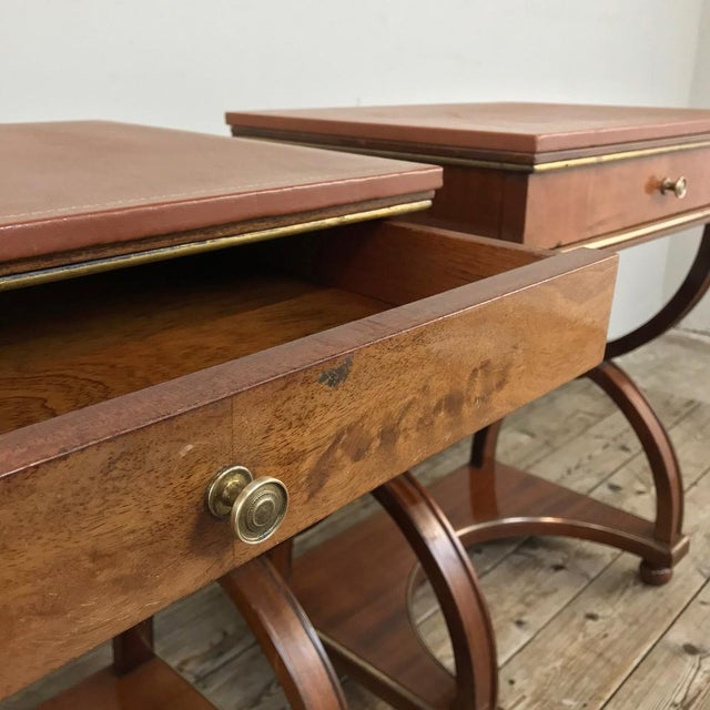 Metal Pair Mid-Century French Charles X Side Tables For Sale - Image 7 of 13