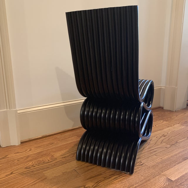 2010s Frank Gehry Inspired Rattan Chair For Sale - Image 5 of 12