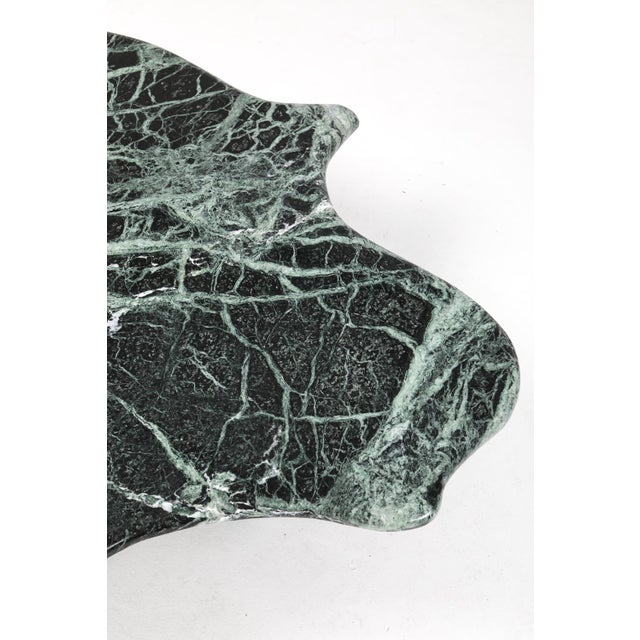 Postmodern Green Marble Coffee Table in the Manner of Noguchi For Sale - Image 9 of 12
