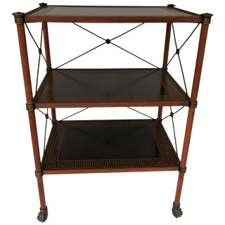 Regency Style Painted Brass 3-Tier Table For Sale