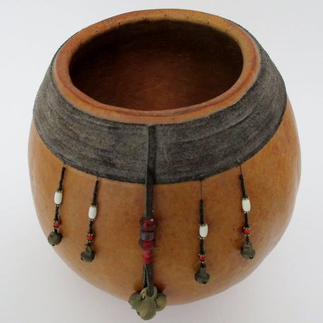 Primitive Decorated Gourd Vase For Sale - Image 3 of 8