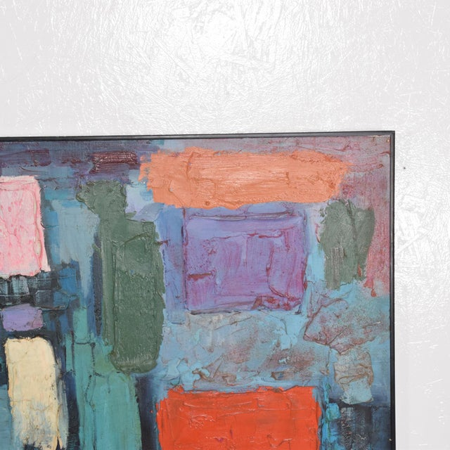 Modern Abstract Oil on Canvas, Signed 1994 For Sale - Image 9 of 11