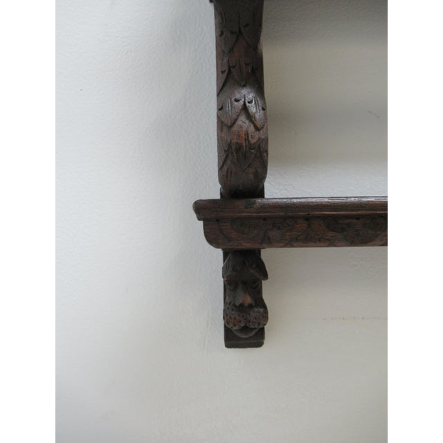 Italian Figural Carved Hand Plate Rack For Sale - Image 9 of 12