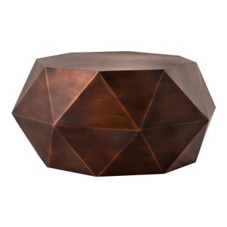 Pasargad Home Kronos Coffee Table - Copper For Sale