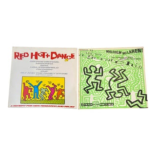 1980s Keith Haring Record Art - a Pair For Sale