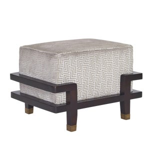 Pearson Carson Upholstered Ottoman For Sale