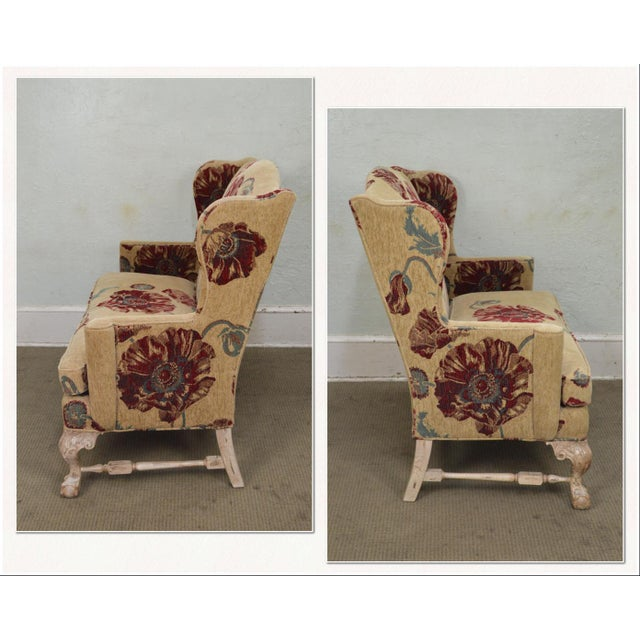 *STORE ITEM #: 17520 Drexel Heritage Gentlemans Home Floral Upholstered Chippendale Settee Loveseat AGE / ORIGIN: Approx....