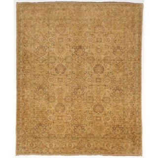 """Hand-Knotted Artisan Pakistani Rug - 9'7""""x 11'5"""" For Sale"""