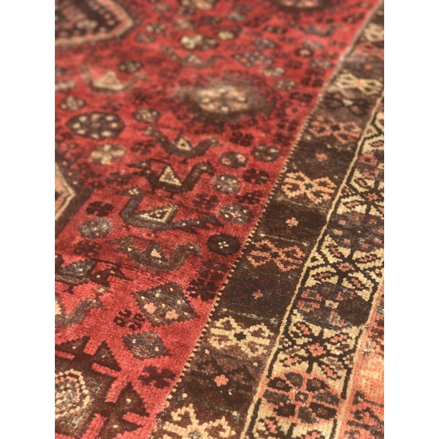 "Vintage Persian Shiraz Area Rug - 5'7""x8'1"" - Image 7 of 11"