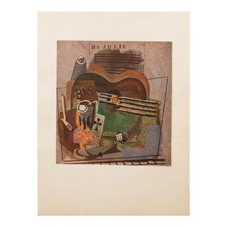 """1947 Picasso, Original """"Ma Jolie"""" Period Lithograph For Sale"""