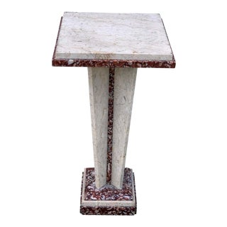 French Art Deco/Modern Marble Pedestal For Sale