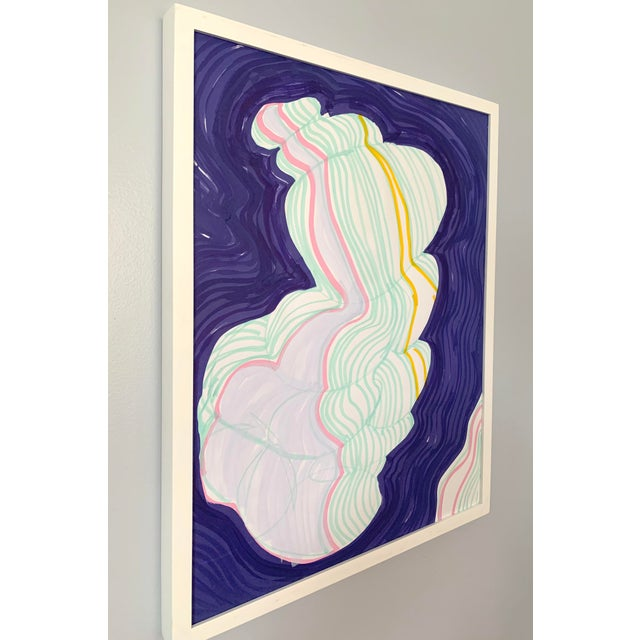 Abstract Cloud Contour Painting For Sale - Image 3 of 6