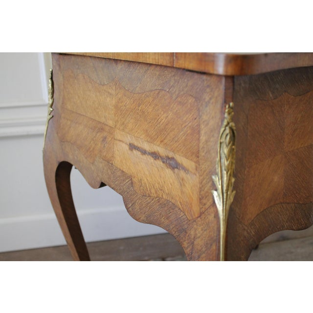 20th Century Italian Inlaid Vanity With Mirror and Key For Sale - Image 9 of 11