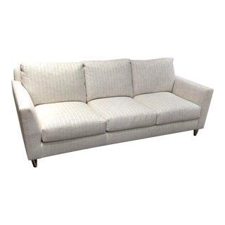 Syosset Transitional White Upholstered Sofa