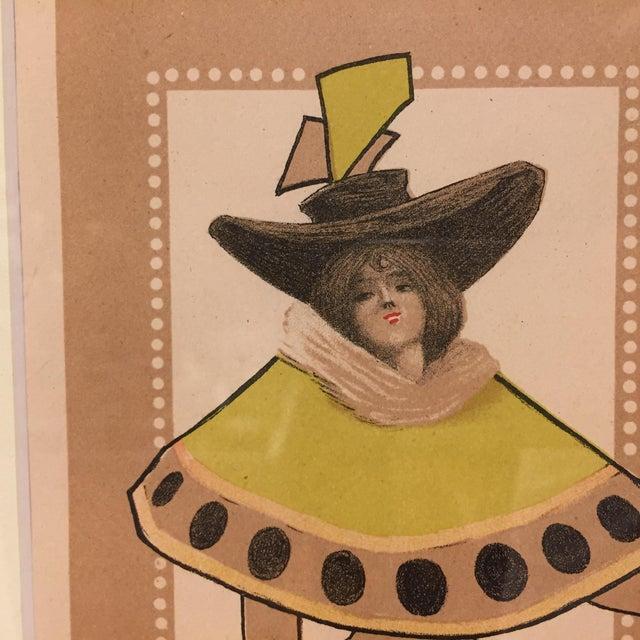 """Art Nouveau """"The Gay Parisienne"""" 1897 Litho by Hyland Ellis , Paris For Sale - Image 3 of 8"""