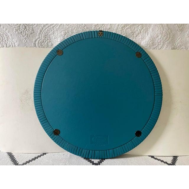 Poltrona Frau Large Poltrona Frau Leather Mirror For Sale - Image 4 of 6