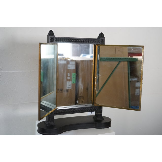 1900 - 1909 Antique Triptych Mirror For Sale - Image 5 of 10