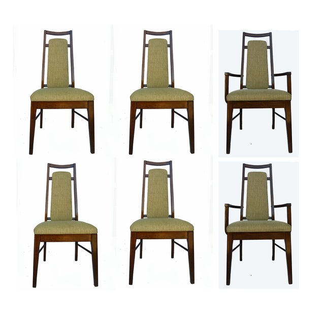 1960's Dining Room Chairs in Walnut - Set of 6 - Image 2 of 9