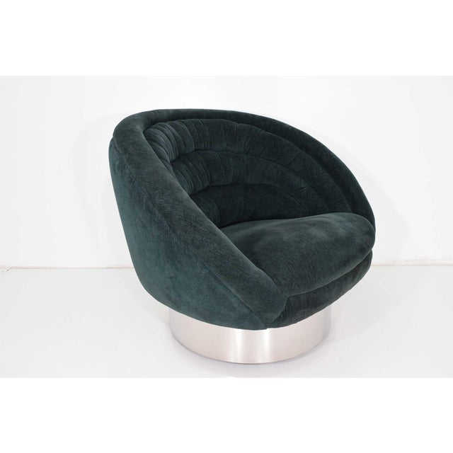 Mid-Century Modern Vladimir Kagan Crescent Chair For Sale - Image 3 of 10